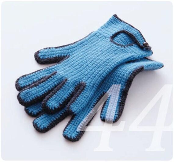 Gehäkelte Handschuhe Anleitung Zweifarbig Mit Knopf Und Etsy