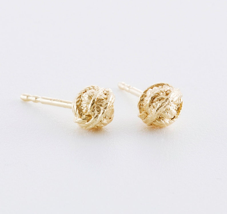 Wool ball earrings made of 925 silver rose gold or yellow Gelbgold vergoldet