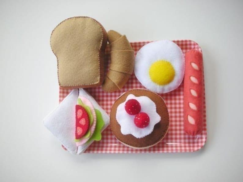 Felt Happy Breakfast Set Pattern Food Sewing PDF image 0