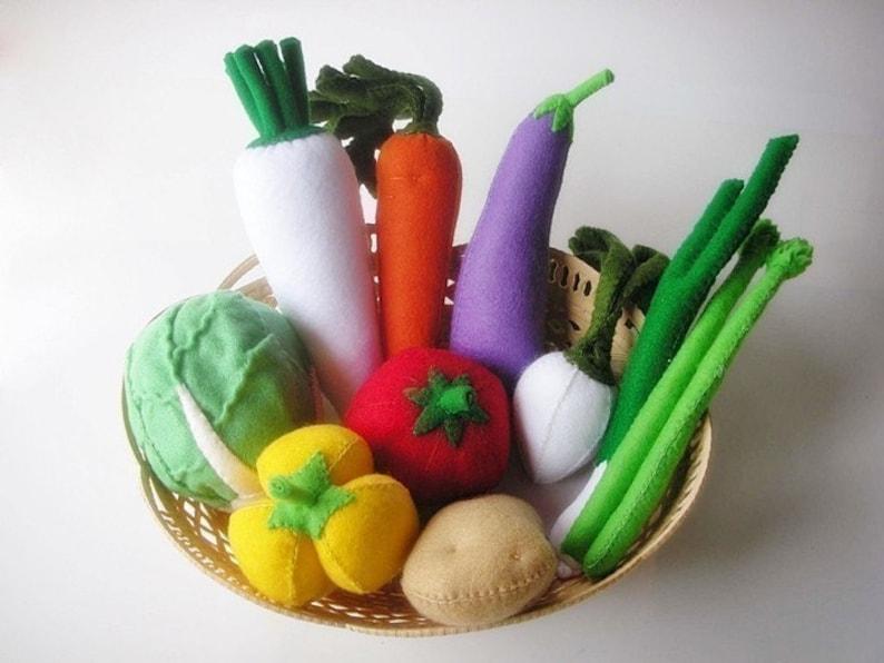 Lovely Vegetables Set 2 PDF Felt Sewing Pattern  10 different image 0