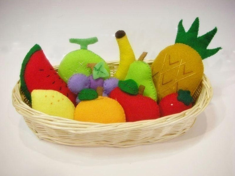Felt Fruit Sewing Patterns and Instructions PDF Cute Easy. image 0