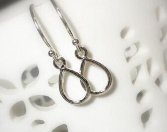 Silver Tear Drop Earrings, Sterling Silver, Everyday Petite Dangle Earrings, Gifts for her