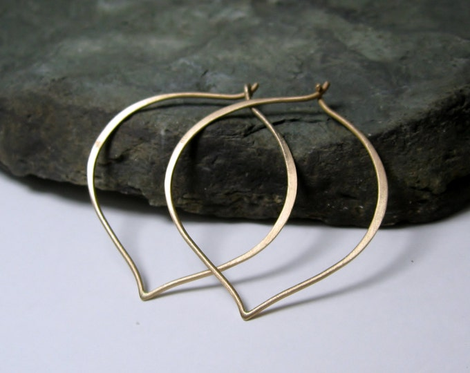 14K Gold Hoops, Made to Order, 18K white, yellow gold