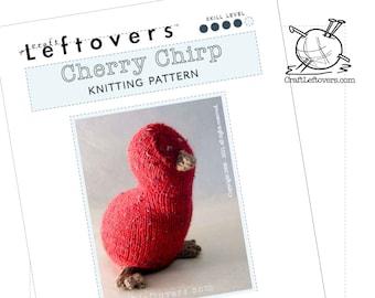 Knit Cherry Chirp Quail / Kiwi Bird : Pattern PDF