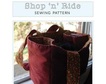 Bicycle Basket Tote Sewing Pattern Shop 'n' Ride