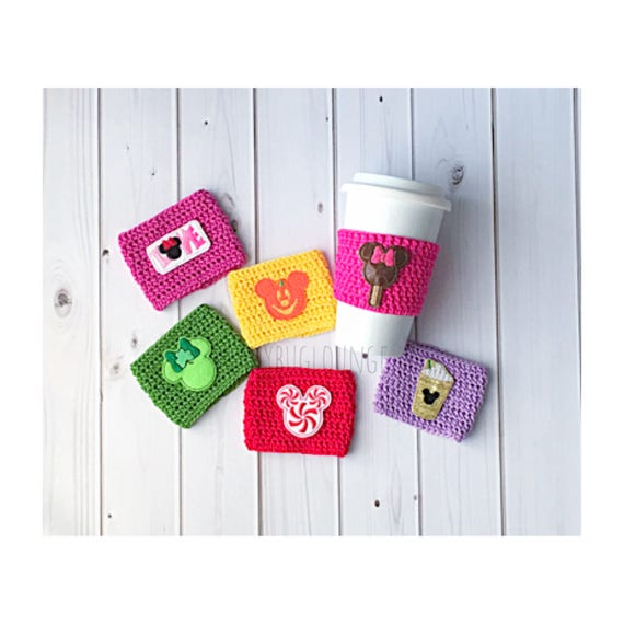 Disney Coffee Cup Cozy Set Valentine S Day Gift Seasonal Etsy