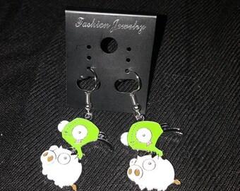Gir piggy invader zim earrings