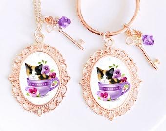 Calico Cat  Cameo Earrings  Cat Earrings  Calico Cat Earrings  Cat Jewelry  Gifts for Cat Lovers  Cat Owners  Cat Art  Gypsy Moon