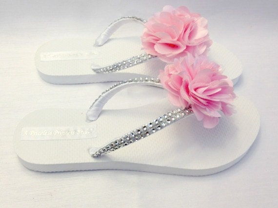 Light Flops Flops Flip Flops Wedding Bridesmaid Light Wedding Flip Available Colors 30 Beach Pink Pink Flip Flower q05B5AEw