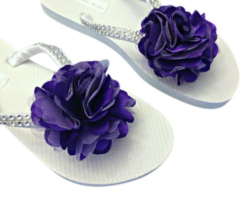 dd1f8723607f1 Bridesmaid Flip Flops Flower Flip Flops Wedding Sandals
