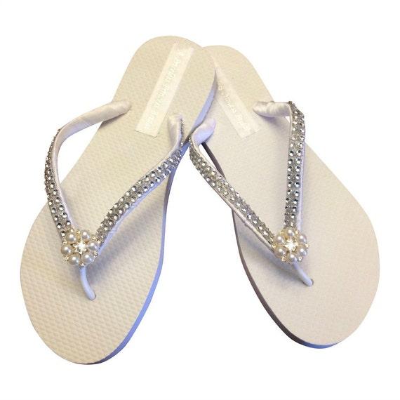 Flops Flops Beach Flip Colors Available Flip Bridal Pearl Flip Rhinestone Bridal Wedding FlipFlop Flops Bridesmaid 30 Wedding qUvwT7Y