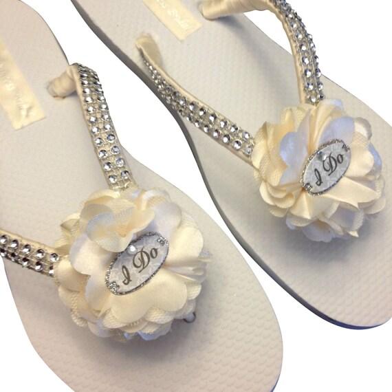 Flip Colors White Wedding Flops Ivory Wedding Beach Flip Do Flip Bride I Flops Flower Beach Bridal Flops 25 Flip Sandals Flops R8twv