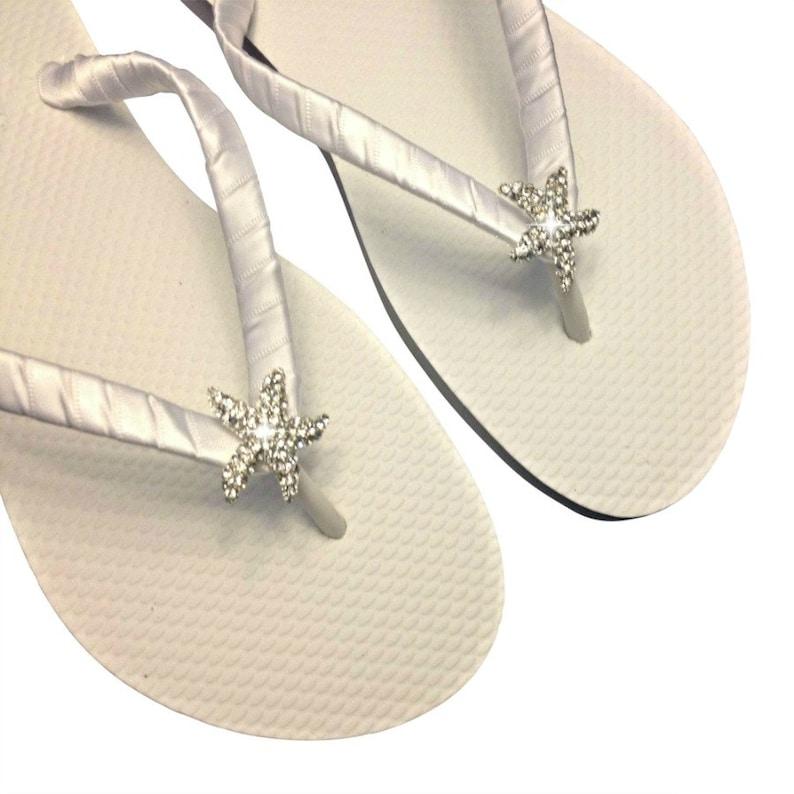 9c773a34c22b9f Beach Wedding Flip Flops Starfish Flip Flops Bridesmaid