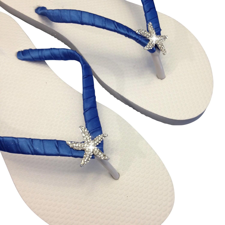 764b12f5a Bridesmaid Flip Flops Bridal Flip Flops Starfish Flip Flop