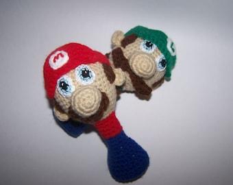 Mario Baby Rattle PDF Pattern