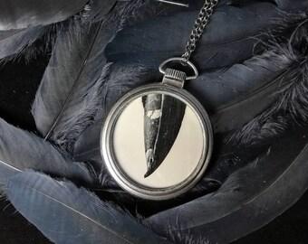 Tintype Pendant - Magpie Beak