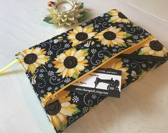 Large Book Cover, Trade Size Cover - Sunflower
