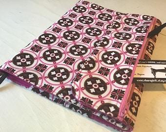 Spiral notebook cover- Pink blocks