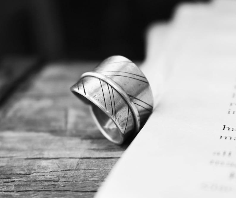 Sterling Silver Gypsy Soul Ring   Gypsy Leaf Band  image 0
