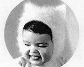 1950's Baby's Angora Kitten Hat PDF Vintage Knitting Pattern