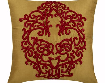 Awesome Red And Gold Pillow Etsy Home Interior And Landscaping Dextoversignezvosmurscom