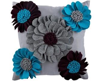 e7937822018 Designer Blue Decorative Pillows Cover