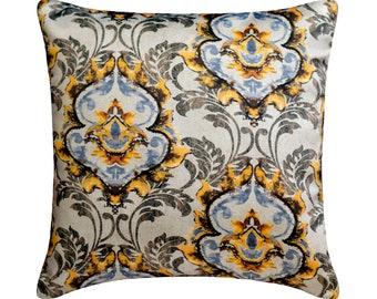 "Decorative Throw Pillow Cover 16""x16"" Toss Throw Pillow Damask Satin Fabric Cushion Cover, Sofa Couch Bedroom Modern Home Decor - Zuma"