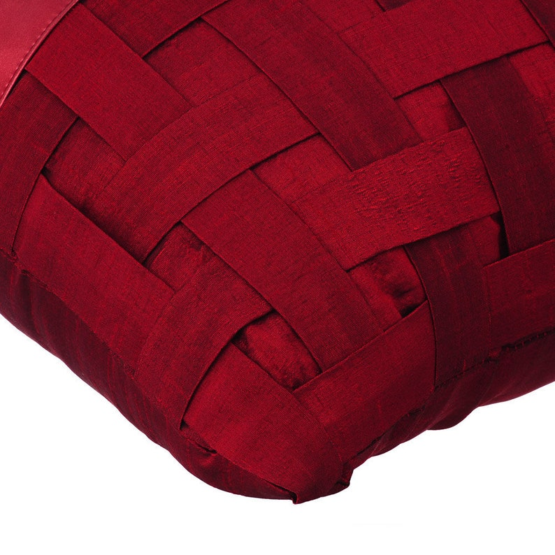 Red N Half Decorative Pillow Sham Cover Pillow Sham Couch Sofa Leather Pillow Case 24x24 Red Metallic Faux Leather Pillow Square Shams