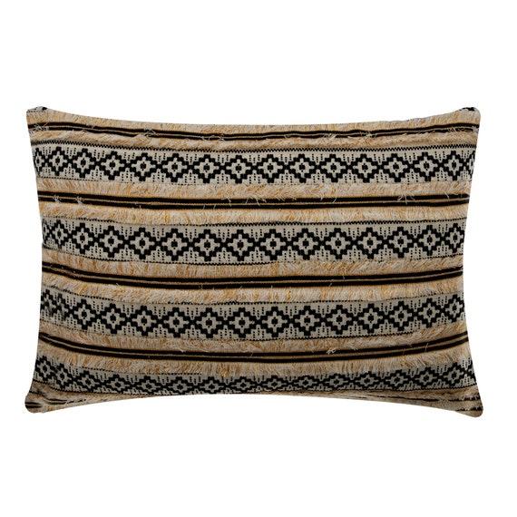 Cozy Crochet Decorative Oblong  Lumbar Throw Pillow Covers Accent Pillows Couch Sofa Pillow Case 12x16 Linen Crochet Lace Pillow Cover