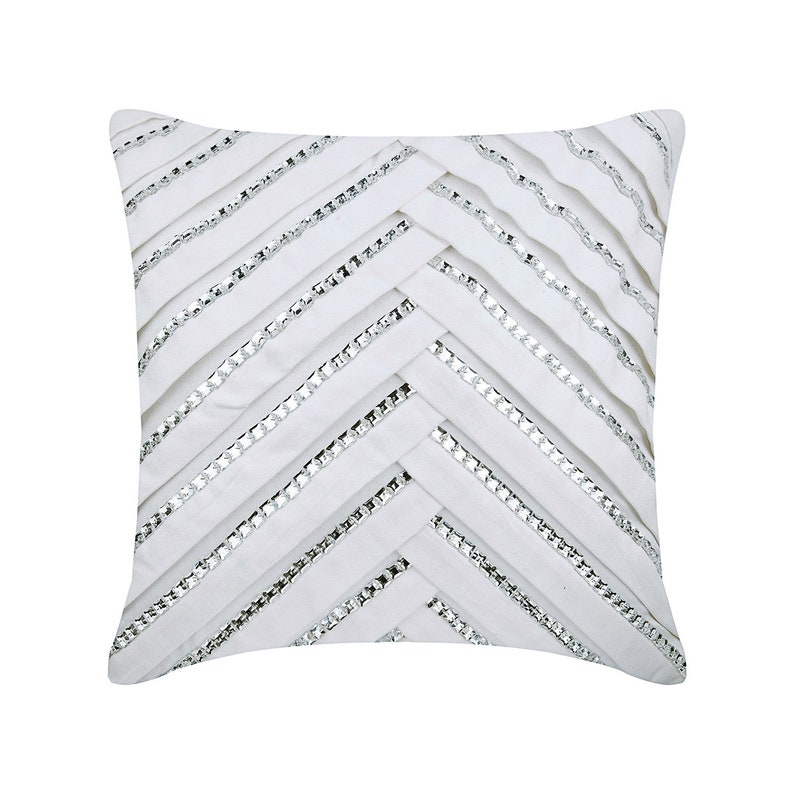 Swell White Couch Cushion Covers 16 X 16 Pillow Covers Suede Pleated Crytal Embroidered Decorative Pillows Ice Crystals Andrewgaddart Wooden Chair Designs For Living Room Andrewgaddartcom