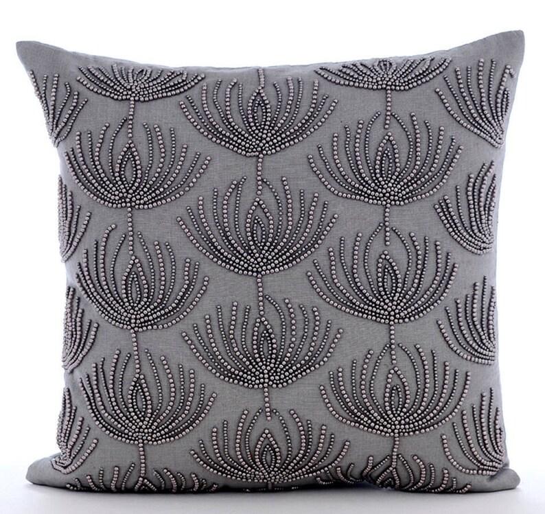 "Single Gray Euro Pillow Sham 26/"" x 26/"" New 100/% Cotton Perfect Fit!"