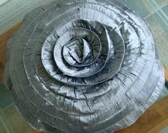 Vintage Greys - Throw Pillow Covers, Round Pillow Covers 18 Inches Round Silk Pillow Cover with Ruffles