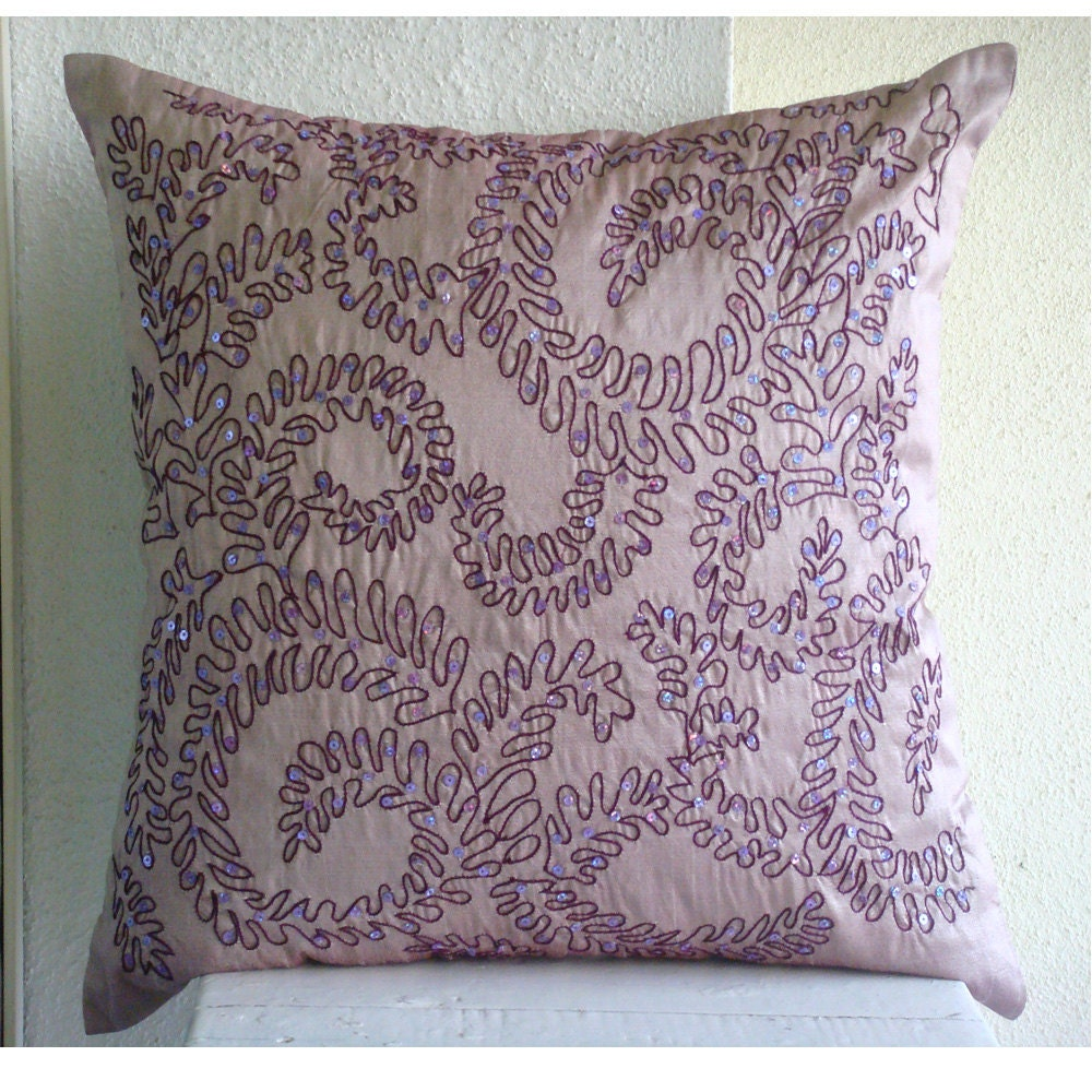 Luxury Purple Decorative Pillow Cover Sequins Pillows