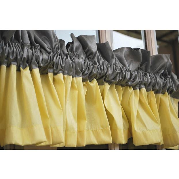 Yellow And Grey Valance 52\