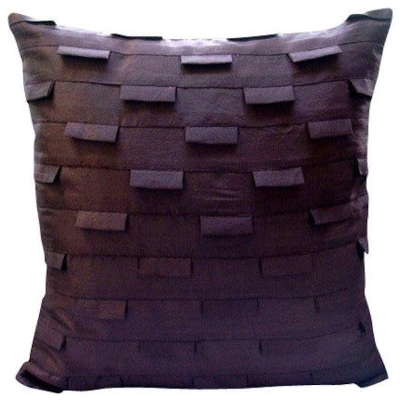 f416a11bbfe Designer Plum Accent Pillows Pintucks Textured Throw Pillows