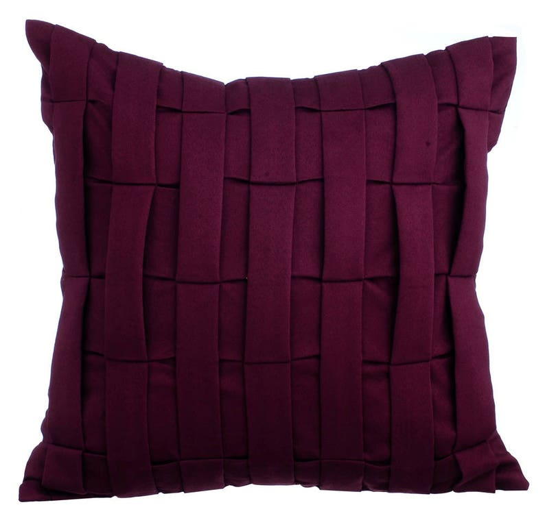 Burgundy Couch Sofa Cushion Covers 16 X 16 Pillow Covers Suede Etsy
