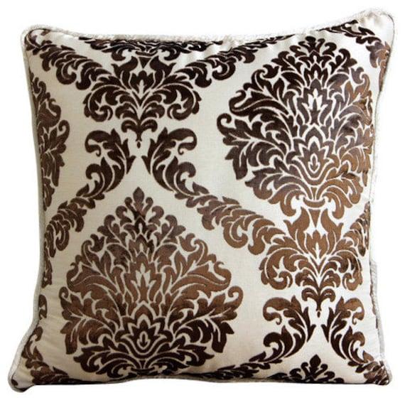 Super Decorative Euro Sham Covers Couch Pillows Sofa Pillow Toss Pillows Burnout Bed Pillow Case Velvet 26 X 26 Throw Pillow Cover Damask Brown Inzonedesignstudio Interior Chair Design Inzonedesignstudiocom