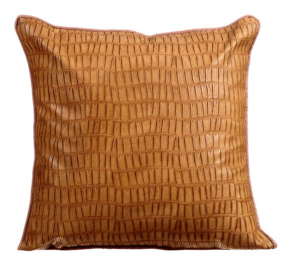 Decorative Throw Pillow Covers Accent Pillow Couch Leather Etsy Unique Etsy Decorative Throw Pillows