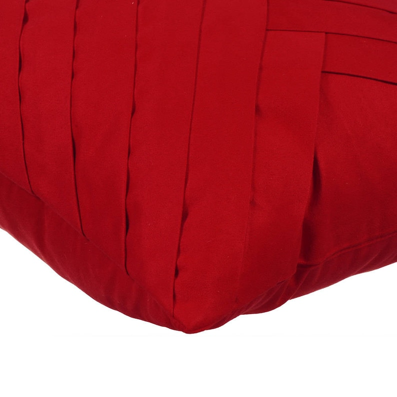 Red No Limits No Lines Red Pillow Cases 24x24 Couch Pillows Embroidered Suede Pillow Sham Cover Bed Pillow Shams 24x24 Square Shams
