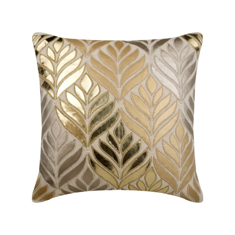 Power Source Provided Tulip Design Cushion Covers Flower Cushion Cover Decorative Beige Linen Pillow Case