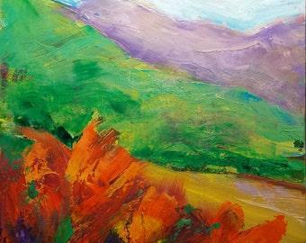 Valley Storm 9 original landscape oil painting