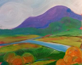 Valley Morning 16 original landscape oil painting