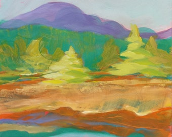 Valley Morning 13 original landscape oil painting