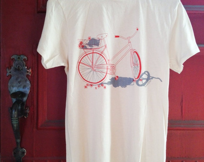Organic Cotton, Sweet Ride, California Cruiser, Unisex Crew - Natural White