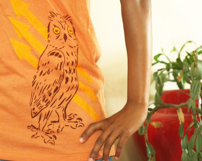 Organic Owl & Arrows - Scoop Neck