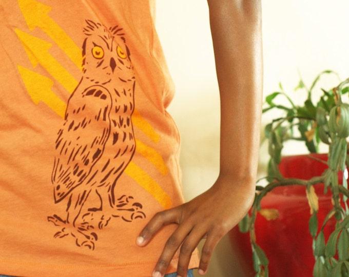 Organic Owl & Arrows - Scoop Neck