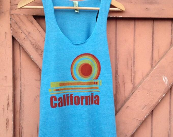 California Dream Tank in Organic Cotton Blend - Sky Blue