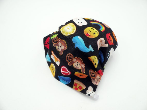 Emoticons Cloth Face Mask, Washable, Opening for Filter Insert