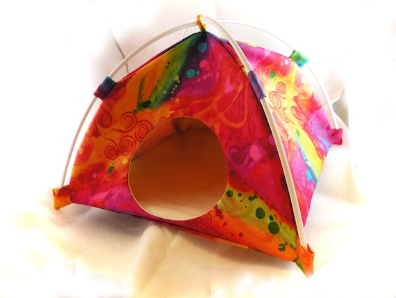 Rainbow Fantasia Large Tent Sleep Sack Bed for Hedgehogs Rats Guinea Pigs Ferrets