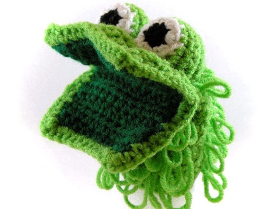 Green Monster  Little Kid's Hand Puppet - Made Just For Tiny Hands!
